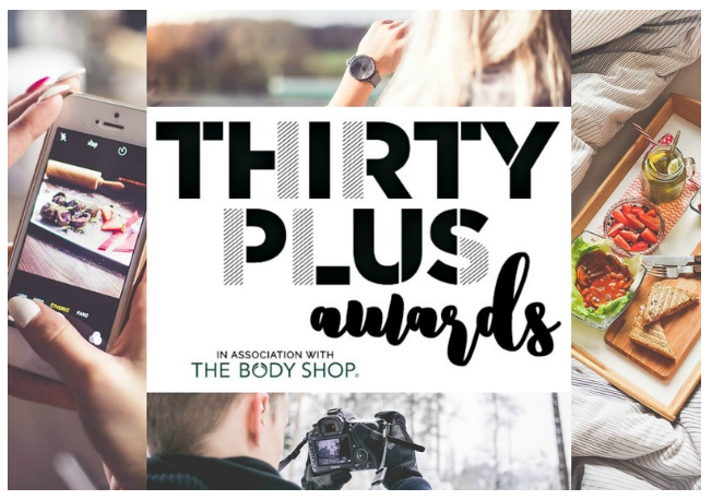 Eek! I've been shortlisted as 'Blogger of the Year' for the 30 Plus Awards!