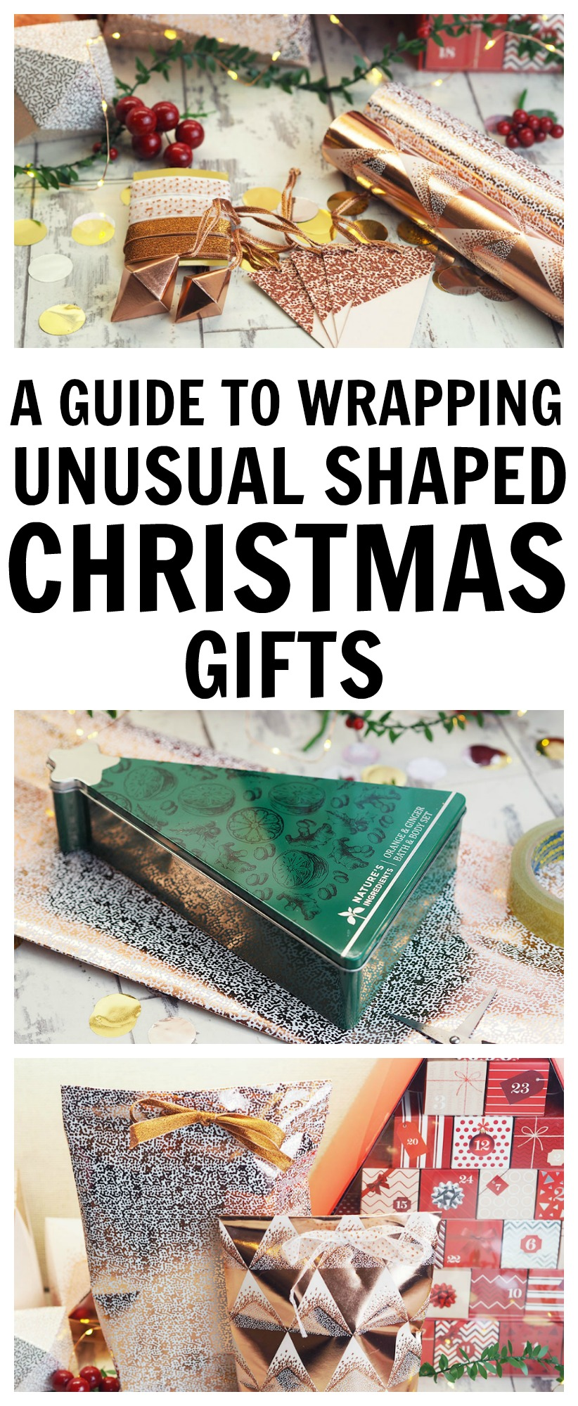M&S Christmas Wrapping - A guide to wrapping unusual shaped gifts!
