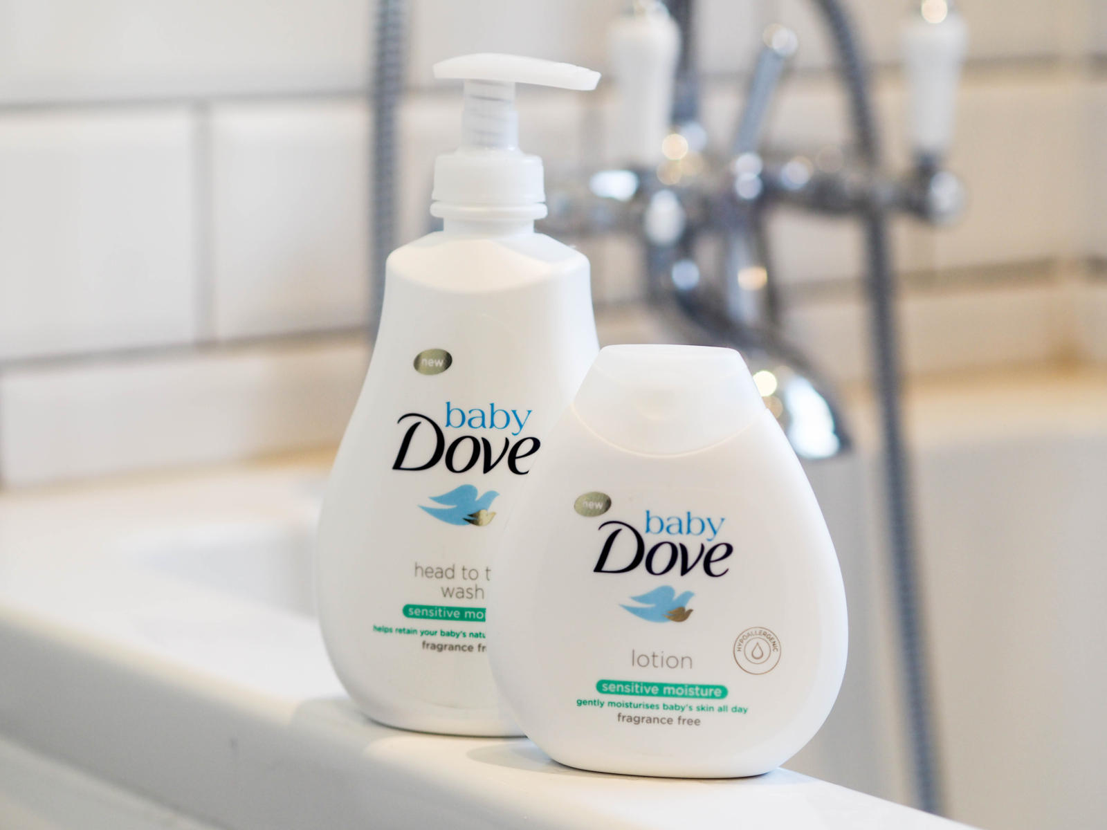 Review Baby Dove Sensitive Range Fizzy Peaches