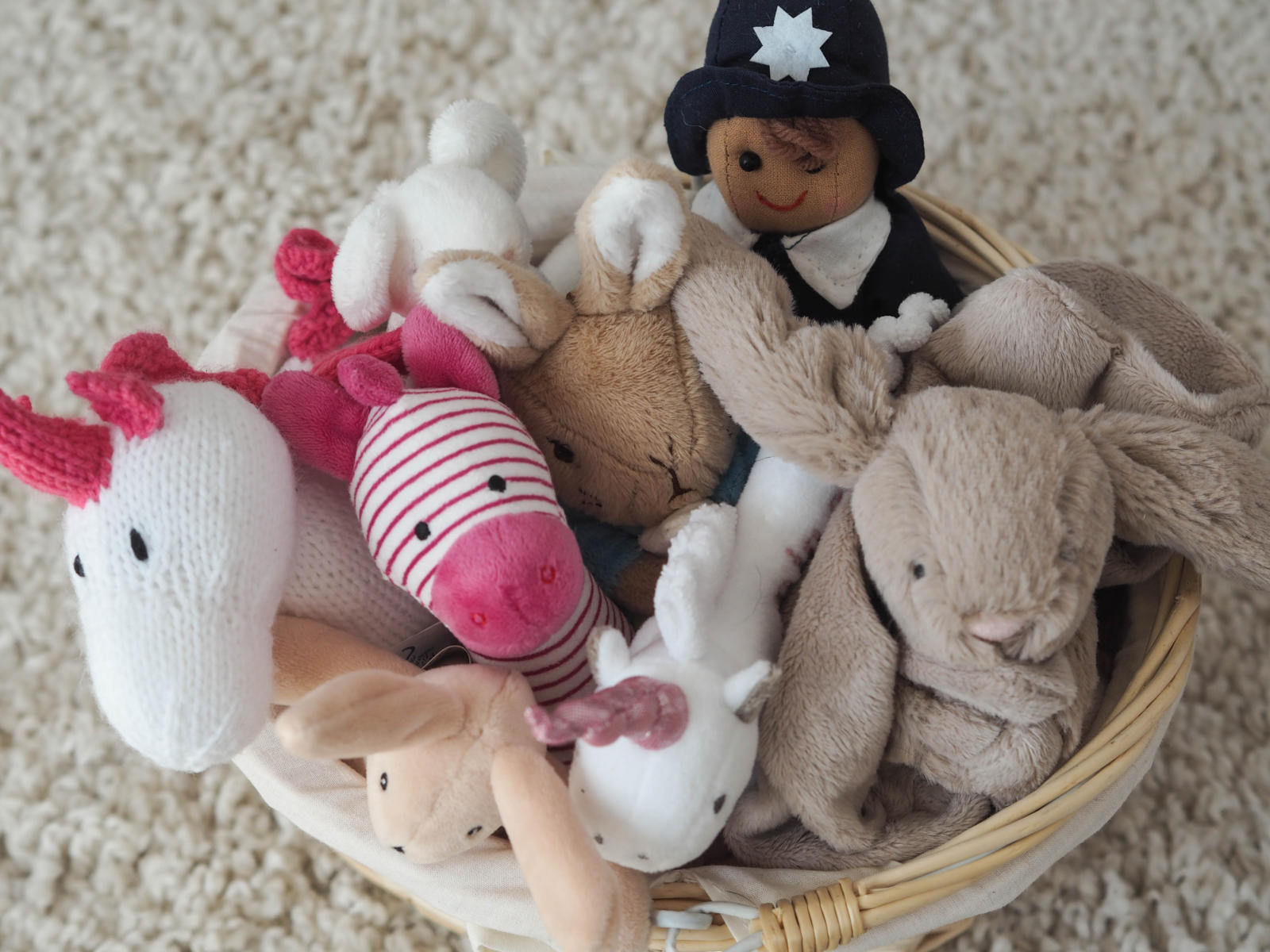 Basket of toys for a baby